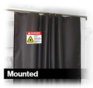 Mounted Laser Safety Barriers